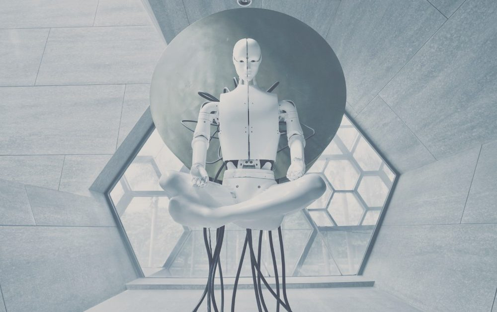 image of a sci-fi robot